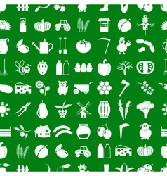 Farm and farming simple icons set seamless pattern vector