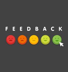Feedback emoticon emoji smile icon buttons vector