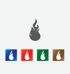 Flames icons vector image