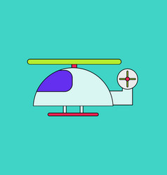Flat icon design collection helicopter toy flying vector