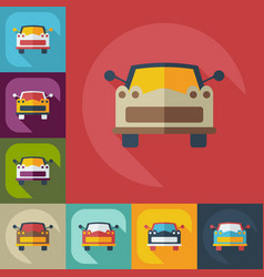 Flat modern design with shadow icons car vector