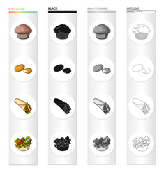 Food refreshment cake and other web icon in vector