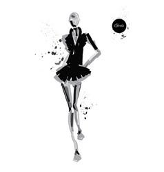 Girl-spray-black vector
