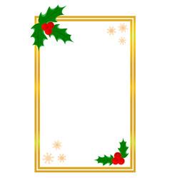Golden shiny christmas card border template vector