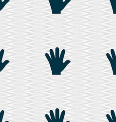 hand icon sign Seamless pattern with geometric vector image