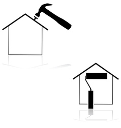 Home renovation vector image