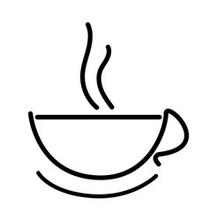 Hot coffee cup icon outline drawing vector