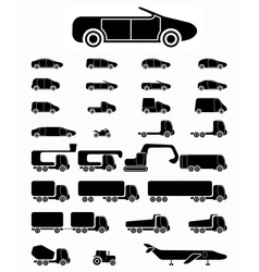 Icon set Vehicles vector
