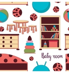 Interior of baby room pattern vector