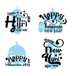 Islamic new year bundle quote lettering quotes vector