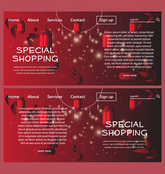islamic red special shopping web banner vector image