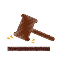 Justice gavel isolated icon vector