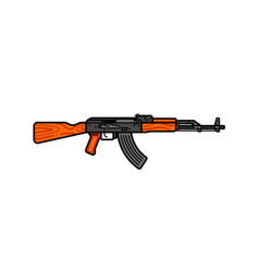 Kalashnikov assault rifle line icon ak-47 vector