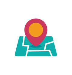Location icon map pin vector