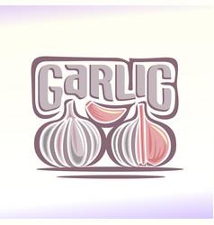 logo for garlic vector image