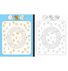 Maze letter o vector
