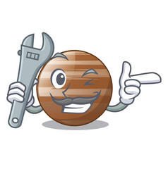 Mechanic craft jupiter planet in the character vector