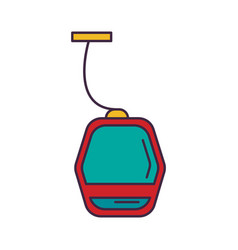 metro icon cartoon style vector image