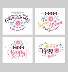 Mothers day card collection vector