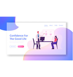 nutrition medical appointment website landing page vector image