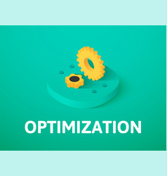 optimization isometric icon isolated on color vector image