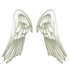 Pair of angel wings vector