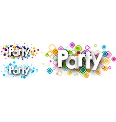 Party colour banners vector