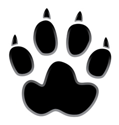 paw logo silhouette vector image