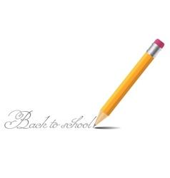 Pencil background back to school vector image vector image