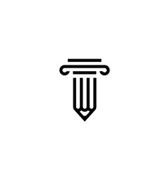 Pencil law logo icon vector