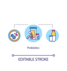 Probiotics concept icon live helpful bacteria vector