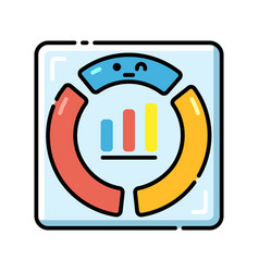 Project dashboard lineal color icon vector