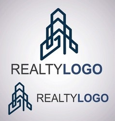 realty logo 6 4 vector image