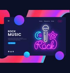 rock music banner design template rock vector image