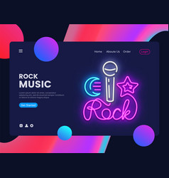 Rock music banner design template vector