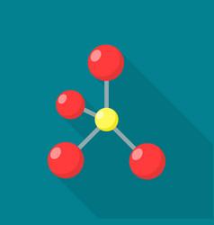 science molecule icon flat style vector image