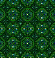 Seamless pattern green abstract shape color vector image