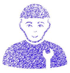 Serviceman icon grunge watermark vector