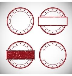 set red grunge rubber stamp vector image