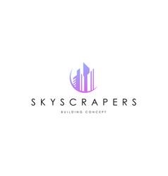 skyscrapers logo template building logo concept vector image