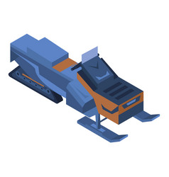 snowmobile icon isometric style vector image