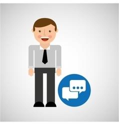social media man bubble speech concept vector image
