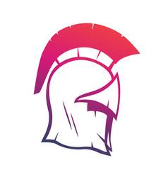 Spartan helmet element for logo or print vector