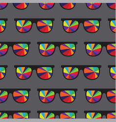 sunglasses multicolored glasses isolated on gray vector image