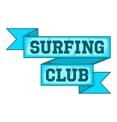 Surf club emblem icon cartoon style vector