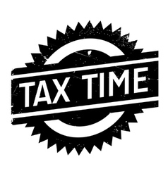 Tax time stamp vector image vector image