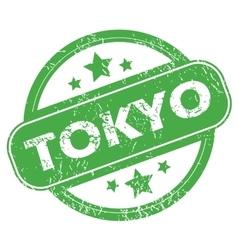Tokyo green stamp vector image