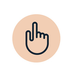 touch hand finger icon hand symbol click vector image