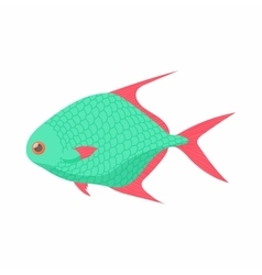 Tropical fish icon cartoon style vector