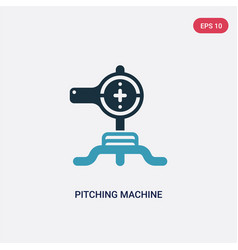 two color pitching machine icon from technology vector image